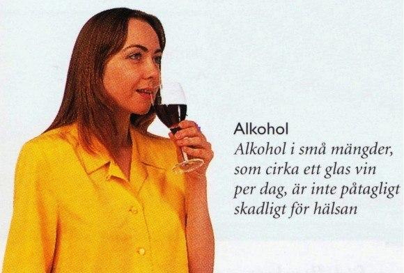 alkohol ett glas vin