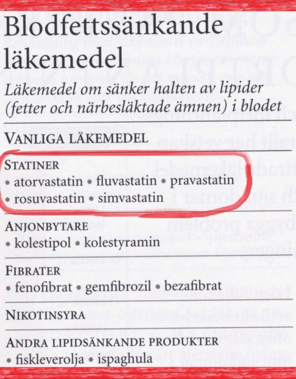 blodfettssänkande statiner