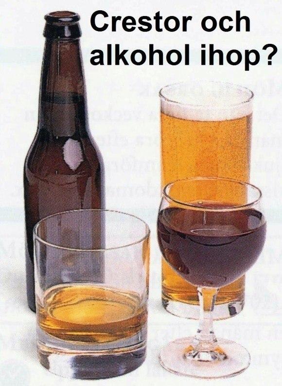crestor och alkohol